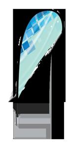 Teardrop Flag Hardware
